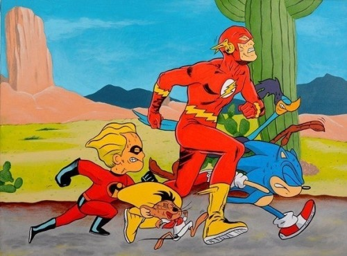Flash vs Sonic vs Road Runner vs Speedy Gonzales