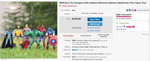 NEW_6pcs_THE_Avengers_Hulk_Captain_Wolverine_Batman_Spiderman_Thor_Figure_Toys___eBay_and_Inbox__279_messages__3_unread_